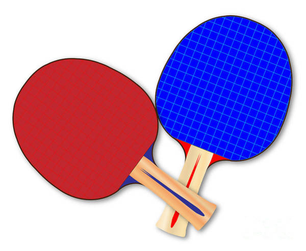 Ping-pong Digital Art - Two Table Tennis Bats by Bigalbaloo Stock