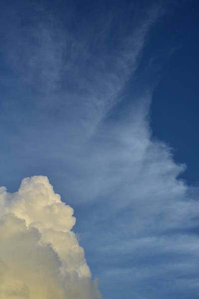 Photograph - Two Tone Clouds 9384 by Wesley Elsberry