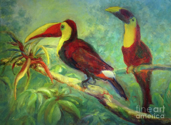 Painting - Two Toucans by Carolyn Jarvis