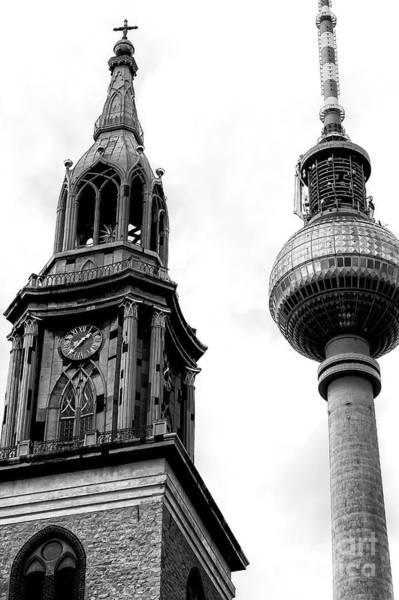 Wall Art - Photograph - Two Towers In Berlin  by John Rizzuto