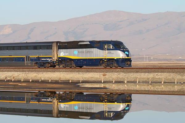 Alviso Photograph - Two Trains by Karen Seroff