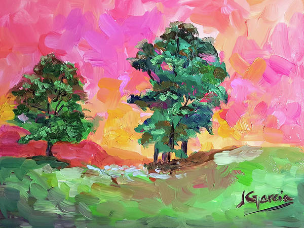 Painting - Two Trees by Janet Garcia