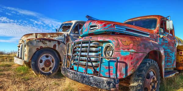 Two Trucks Art Print