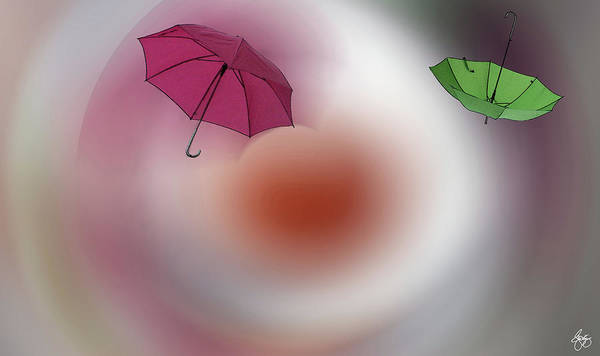 Photograph - Two Umbrellas In A Vortex  by Wayne King