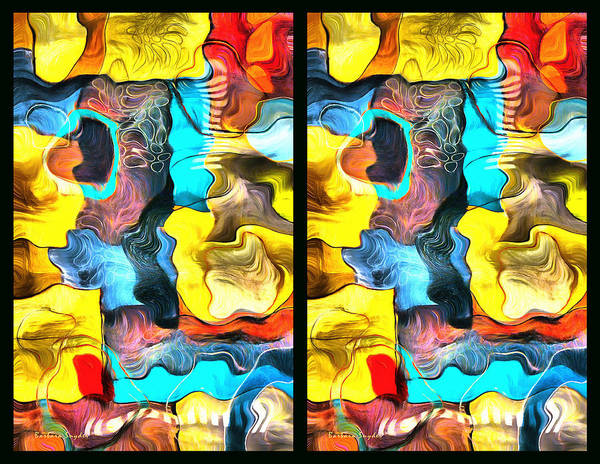 Painting - Two Up Abstract Panel by Barbara Snyder