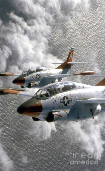 Photograph - Two U.s. Navy T-2c Buckeye Aircraft by Stocktrek Images