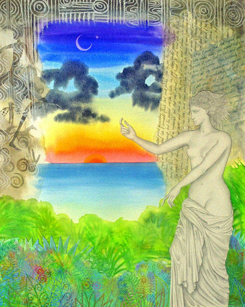 Wall Art - Painting - Two Venuses Pointing Out Something Indescribable  by Jennifer Baird