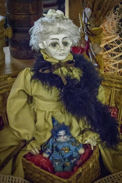 Photograph - Two Vintage Dolls - Slovenia by Stuart Litoff