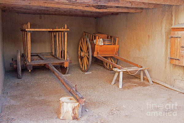 Photograph - Two Wagons Inbents Old Fort by Fred Stearns