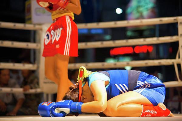 Kickboxing Photograph - Two Wai Khru Muay Thai Standing by Pius Lee