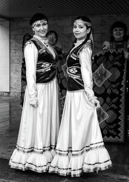Photograph - Two Woman In National Russian Bashkir Dress by John Williams