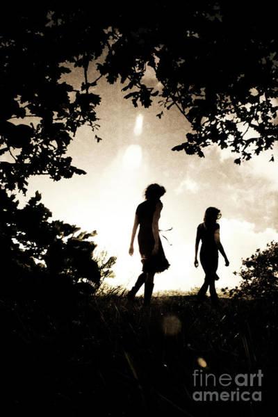 Photograph - Two Women Walking by Clayton Bastiani