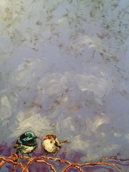 Painting - Two Wrens by Joel Tesch