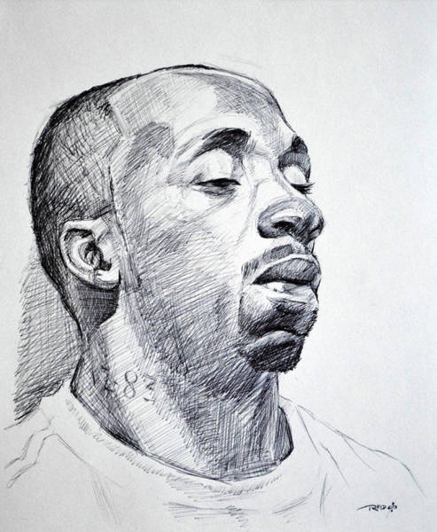 Drawing - Twon by Christopher Reid