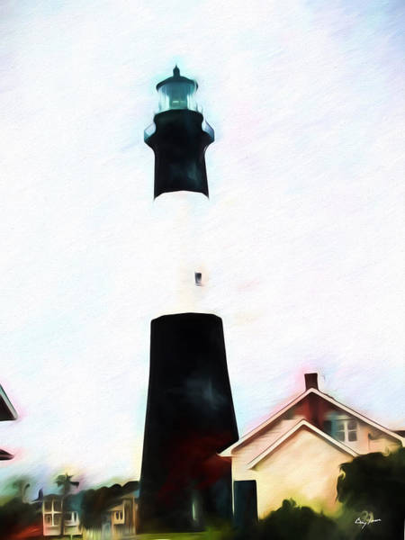 Digital Art - Tybee Island Light by Barry Jones