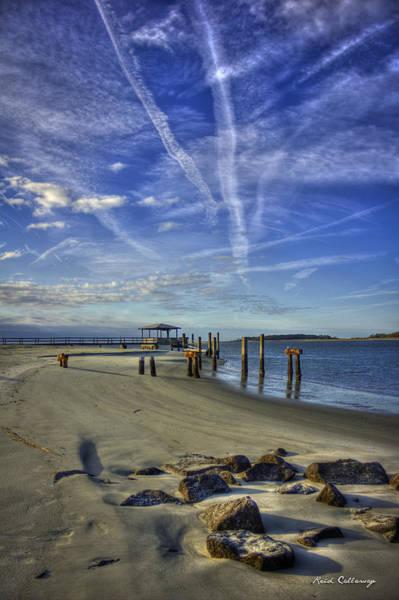 Photograph - Tybee Island South Beach Sunrise Art by Reid Callaway