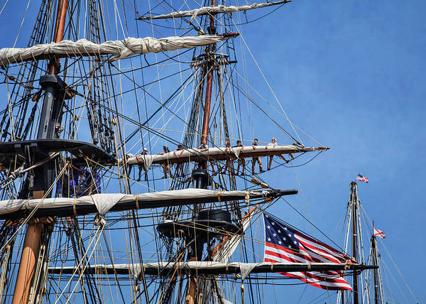 Photograph - Tying The Sails by Dale Kincaid