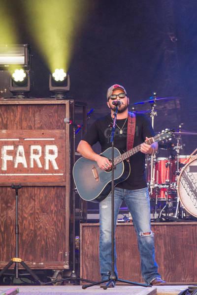 Summerfest Photograph - Tyler Farr Guitar by Mike Burgquist