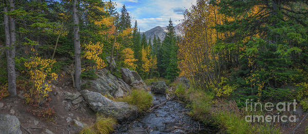 Bear Creek Photograph - Tyndall Creek Panorama  by Michael Ver Sprill