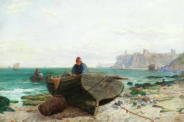 Shrimp Painting - Tynemouth by Charles Napier Hemy RA