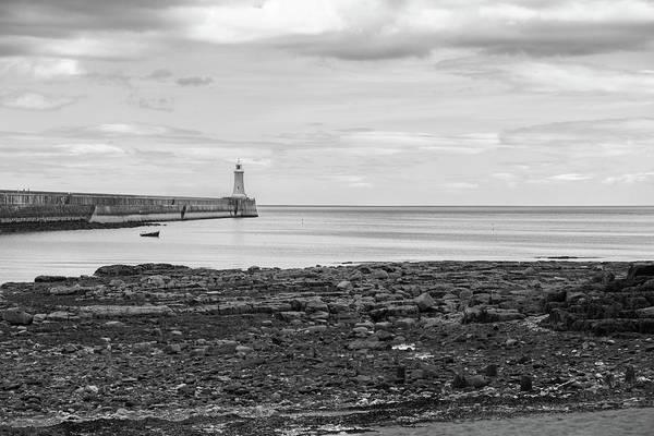 Sea Wall Art - Photograph - Tynemouth Pier Landscape In Monochrome by Iordanis Pallikaras