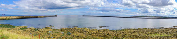 Sea Wall Art - Photograph - Tynemouth Piers And Lighthouses Panorama by Iordanis Pallikaras