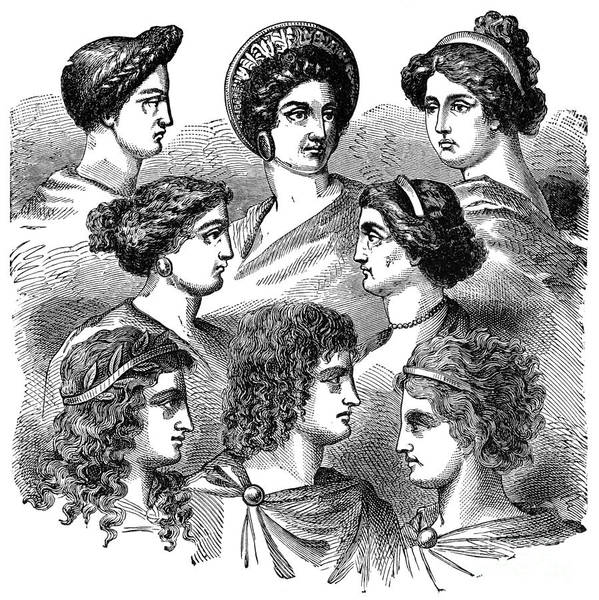 Drawing - Types Of Greek Women by Granger