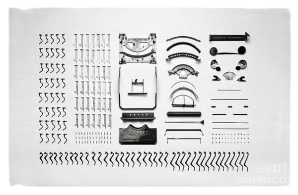 Photograph - Typewriter Disassembled by Edward Fielding