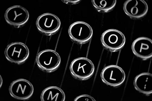 Wall Art - Photograph - Typewriter Keyboard I by Tom Mc Nemar