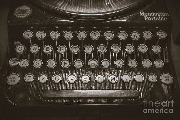 Wall Art - Photograph - Typewriter - by Colleen Kammerer