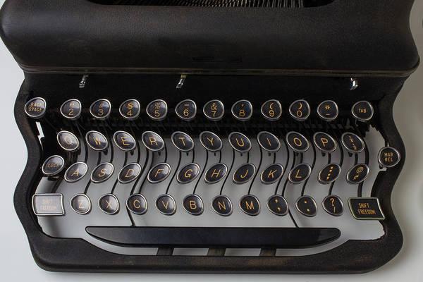 Wall Art - Photograph - Typewrter Wavy Keys by Garry Gay