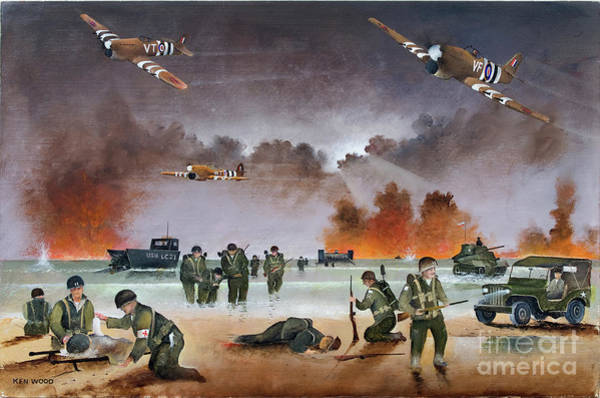 Painting - Typhoons Over Utah Beach by Ken Wood