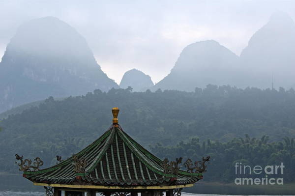 Wall Art - Photograph - Typical Chinese Pavilion On The Banks Of The River Li At Sunrise by Sami Sarkis
