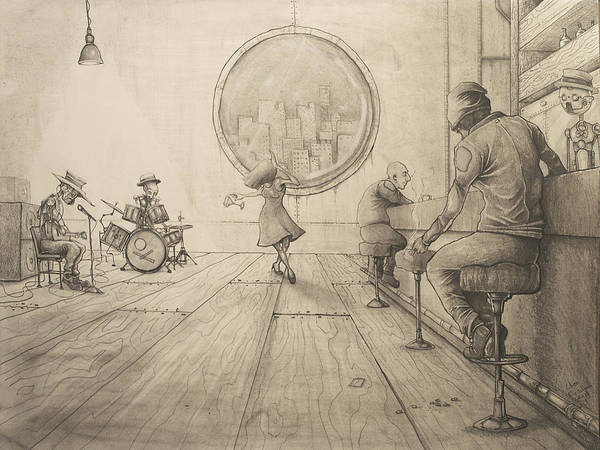 Wall Art - Drawing - Typical Evening by Chase Fleischman