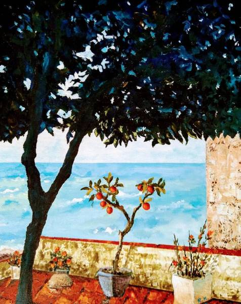 Painting - Typical Mediterranean by Ray Khalife
