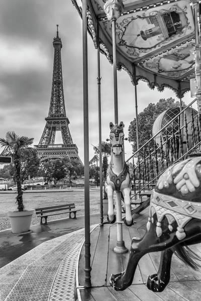 La Tour Eiffel Photograph - Typical Paris - Monochrome by Melanie Viola