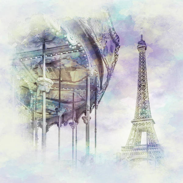 Wall Art - Photograph - Typical Paris - Watercolor  by Melanie Viola
