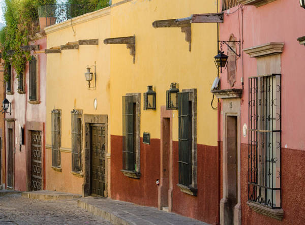 Photograph - Typical Street In  San Miguel De Allende, Mexico. by Rob Huntley
