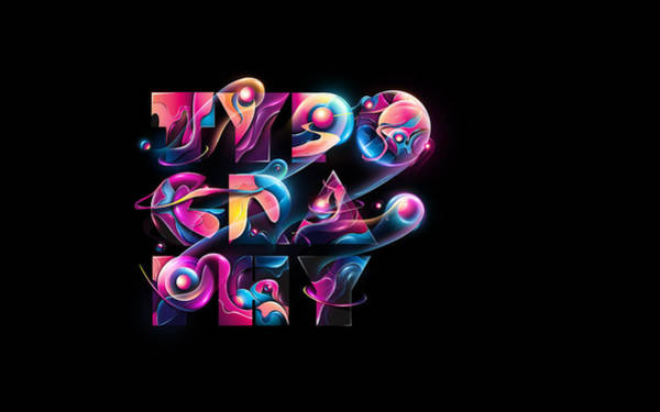 Flower Digital Art - Typography by Maye Loeser