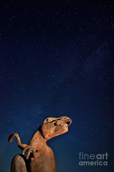Photograph - Tyrannosaurus Rex Searching For The Milky Way by Sam Antonio Photography