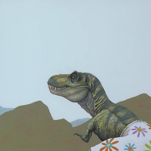 Hunt Wall Art - Painting - Tyranosaurus Rex by Jasper Oostland