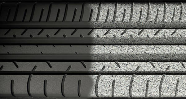 Wall Art - Digital Art - Tyre Tread Morphing To Asphalt by Allan Swart