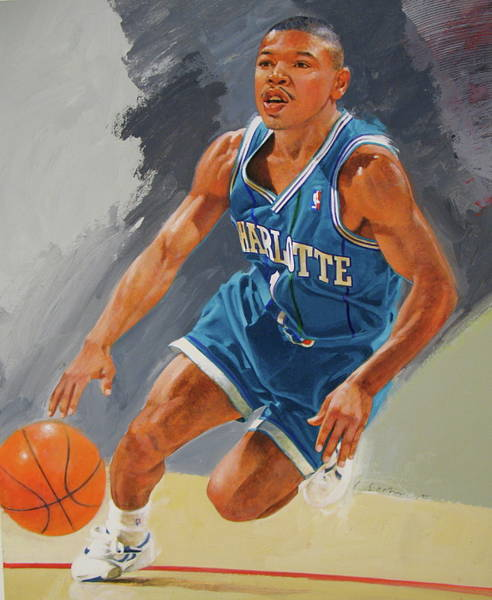 Painting - Tyrone Bogues-muggsy by Cliff Spohn