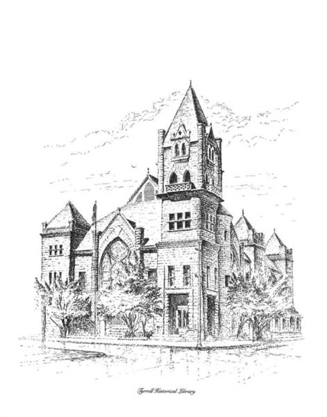 Drawing - Tyrrell Historical Library by Randy Welborn