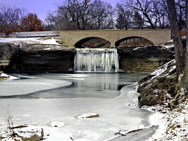 Photograph - Tyrst Falls Frozen by Wesley Nesbitt