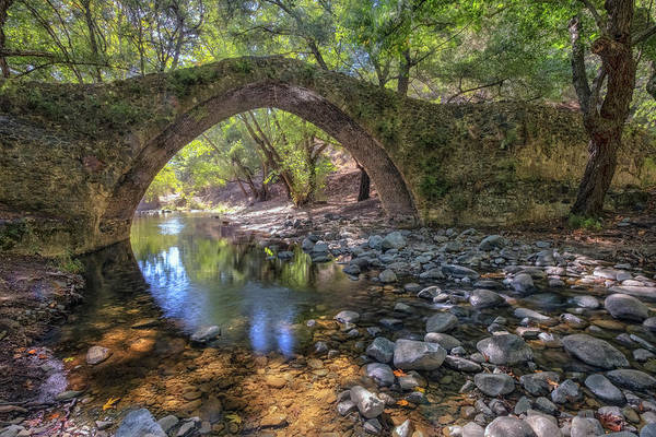 Cyprus Wall Art - Photograph - Tzelefos Bridge - Cyprus by Joana Kruse