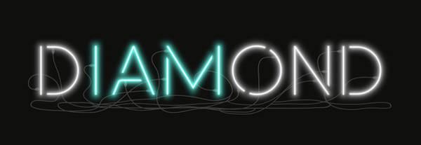Digital Art - U Are Diamond - Neon Sign 1 by David Hargreaves