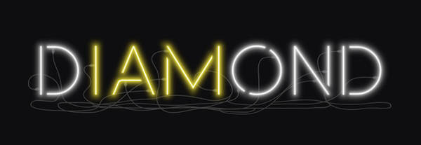 Digital Art - U Are Diamond - Neon Sign 2 by David Hargreaves