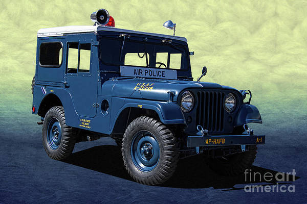 Wall Art - Photograph - U. S. A. F. Air Police Jeep by Nick Gray