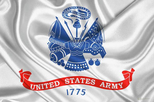 Digital Art - U. S.  Army  -  United States Army Flag by Serge Averbukh
